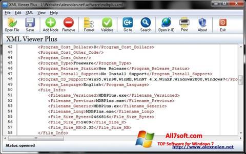 Ảnh chụp màn hình XML Viewer cho Windows 7
