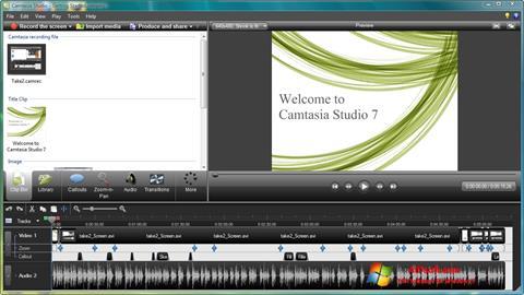 Ảnh chụp màn hình Camtasia Studio cho Windows 7