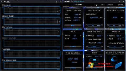 Ảnh chụp màn hình GIGABYTE OC Guru cho Windows 7