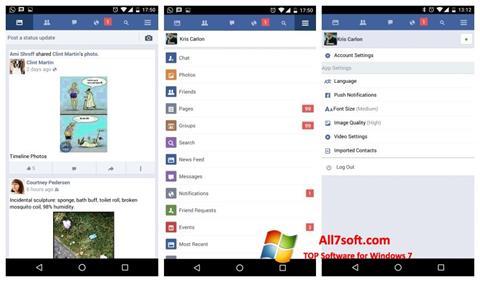 Ảnh chụp màn hình Facebook cho Windows 7