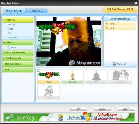 Ảnh chụp màn hình ManyCam cho Windows 7