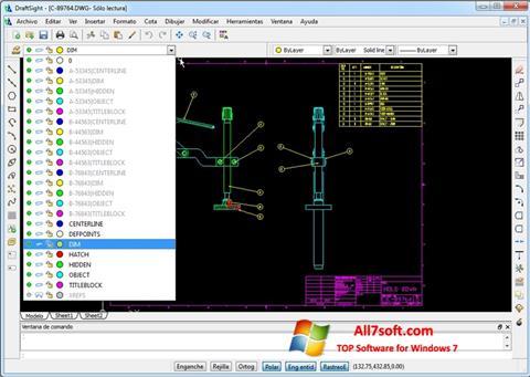 Ảnh chụp màn hình DraftSight cho Windows 7