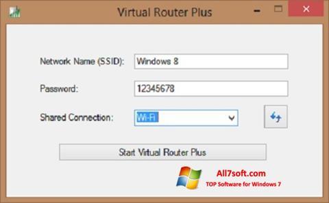 Ảnh chụp màn hình Virtual Router Plus cho Windows 7