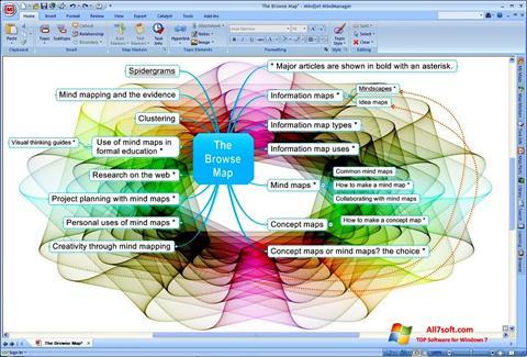 Ảnh chụp màn hình MindManager cho Windows 7