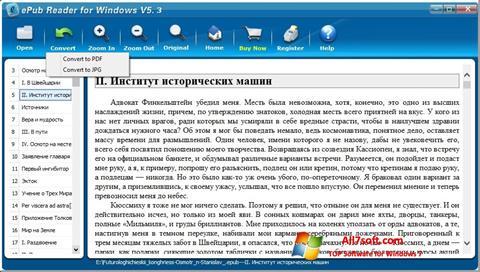 Ảnh chụp màn hình Epub Reader cho Windows 7