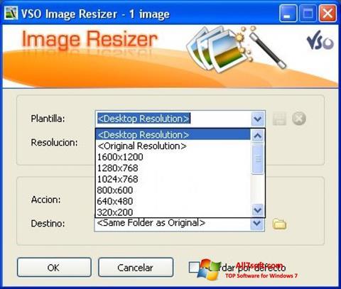 Ảnh chụp màn hình VSO Image Resizer cho Windows 7