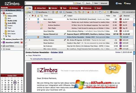 Ảnh chụp màn hình Zimbra Desktop cho Windows 7