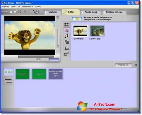 Ảnh chụp màn hình WinDVD Creator cho Windows 7