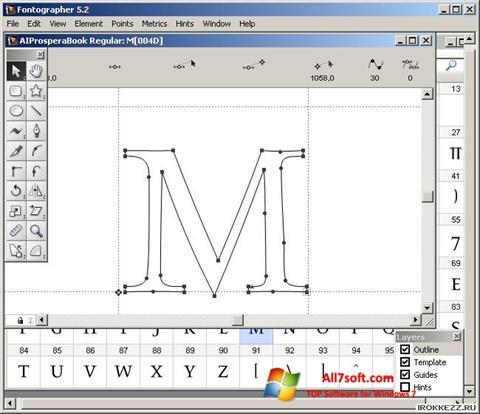 Ảnh chụp màn hình Fontographer cho Windows 7