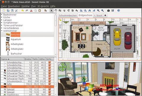 Ảnh chụp màn hình Sweet Home 3D cho Windows 7
