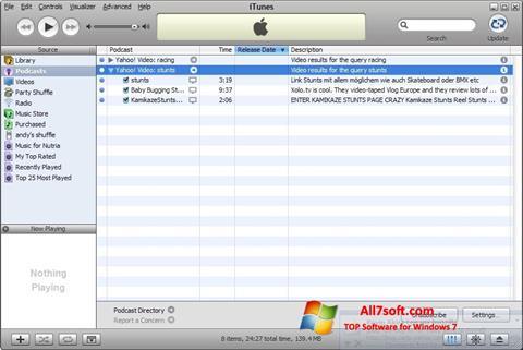 Ảnh chụp màn hình iTunes cho Windows 7