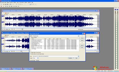Ảnh chụp màn hình Sound Forge cho Windows 7