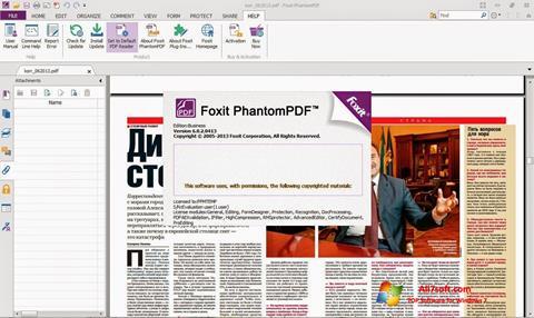 Ảnh chụp màn hình Foxit Phantom cho Windows 7