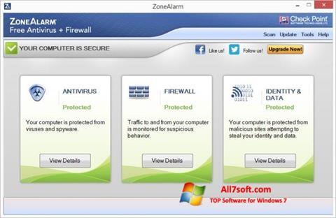 Ảnh chụp màn hình ZoneAlarm cho Windows 7