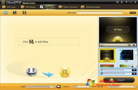 Ảnh chụp màn hình CloneDVD cho Windows 7