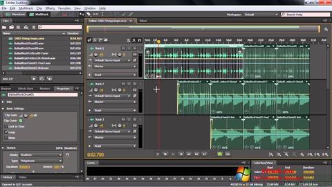Ảnh chụp màn hình Adobe Audition CC cho Windows 7