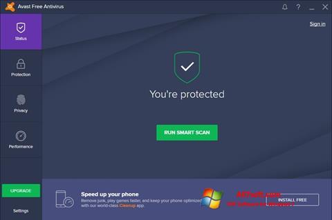 Ảnh chụp màn hình Avast Free Antivirus cho Windows 7
