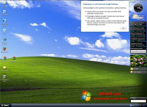 Ảnh chụp màn hình Google Desktop cho Windows 7