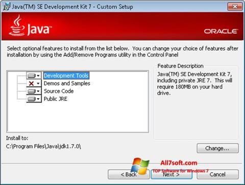 Ảnh chụp màn hình Java Development Kit cho Windows 7