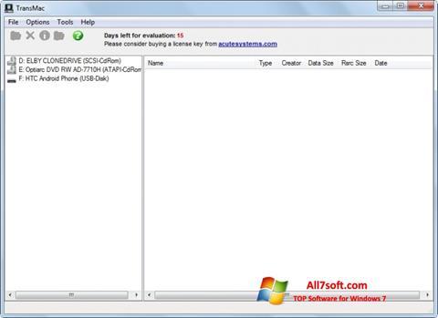 Ảnh chụp màn hình TransMac cho Windows 7