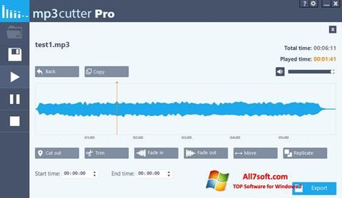Ảnh chụp màn hình MP3 Cutter cho Windows 7