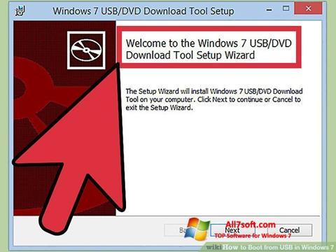 Ảnh chụp màn hình Windows 7 USB DVD Download Tool cho Windows 7