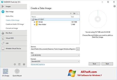 Ảnh chụp màn hình DAEMON Tools Lite cho Windows 7