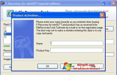 Ảnh chụp màn hình F-Recovery SD cho Windows 7