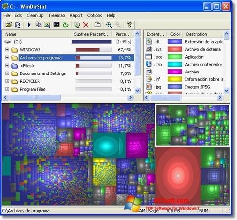 Ảnh chụp màn hình WinDirStat cho Windows 7