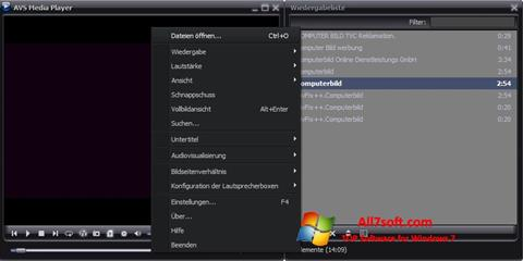 Ảnh chụp màn hình AVS Media Player cho Windows 7