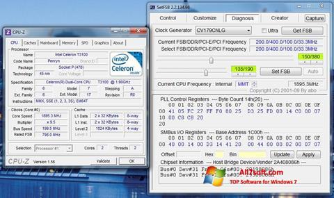 Ảnh chụp màn hình SetFSB cho Windows 7