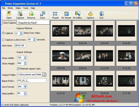 Ảnh chụp màn hình SnapShot cho Windows 7