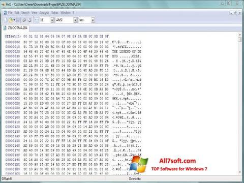 Ảnh chụp màn hình Hex Editor cho Windows 7