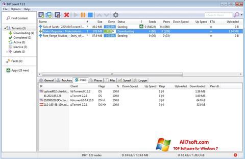 Ảnh chụp màn hình BitTorrent cho Windows 7