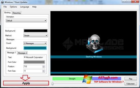Ảnh chụp màn hình Windows 7 Boot Updater cho Windows 7