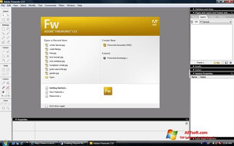 Ảnh chụp màn hình Adobe Fireworks cho Windows 7