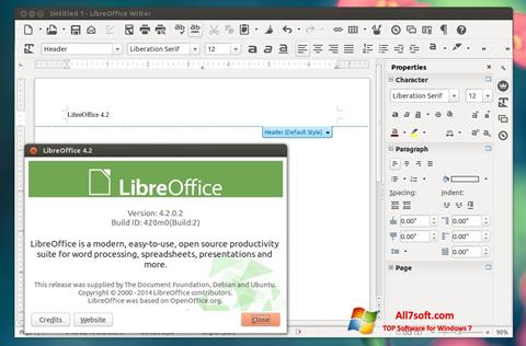 Ảnh chụp màn hình LibreOffice cho Windows 7