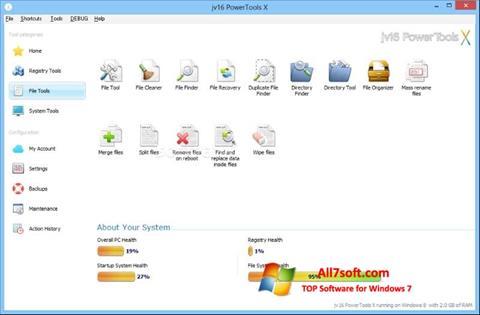 Ảnh chụp màn hình jv16 PowerTools cho Windows 7