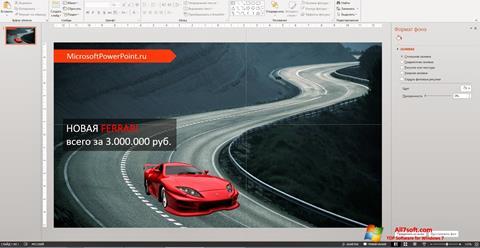 Ảnh chụp màn hình Microsoft PowerPoint cho Windows 7