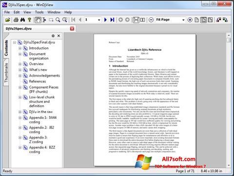 Ảnh chụp màn hình WinDjView cho Windows 7