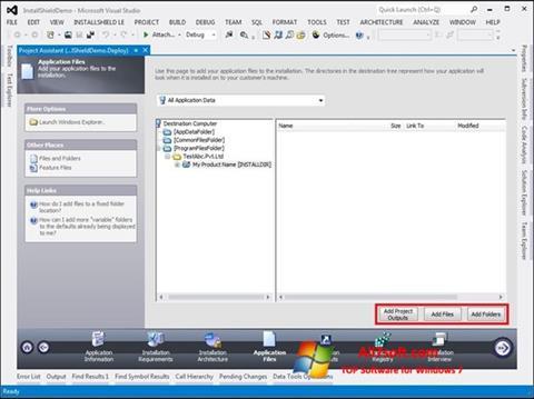 Ảnh chụp màn hình InstallShield cho Windows 7