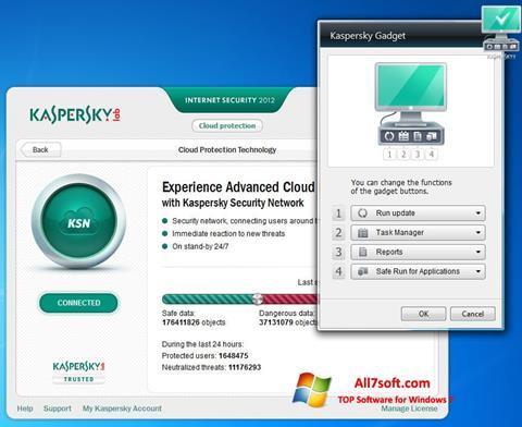Ảnh chụp màn hình Kaspersky Internet Security cho Windows 7