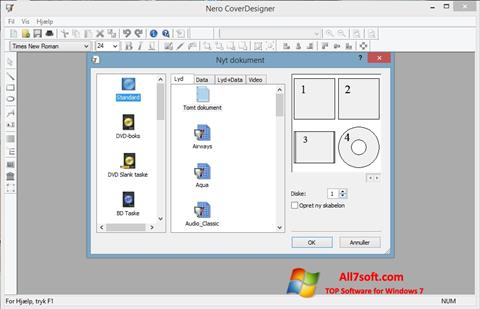 Ảnh chụp màn hình Nero Cover Designer cho Windows 7