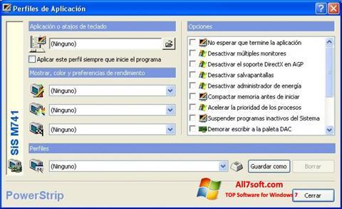 Ảnh chụp màn hình PowerStrip cho Windows 7