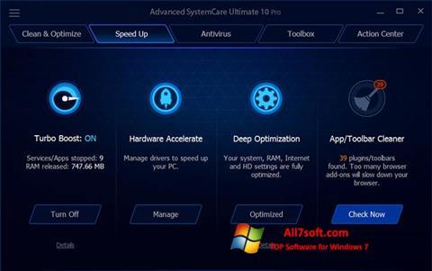 Ảnh chụp màn hình Advanced SystemCare Ultimate cho Windows 7