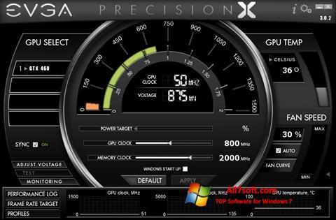 Ảnh chụp màn hình EVGA Precision X cho Windows 7