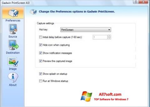Ảnh chụp màn hình Gadwin PrintScreen cho Windows 7