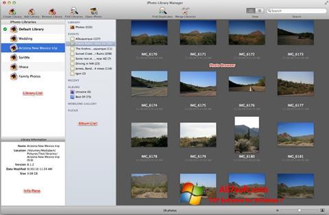 Ảnh chụp màn hình iPhoto cho Windows 7