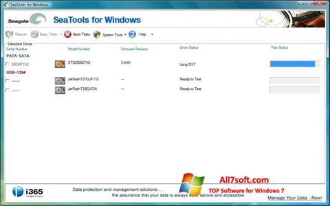 Ảnh chụp màn hình Seagate SeaTools cho Windows 7