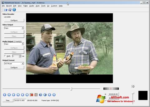 Ảnh chụp màn hình Avidemux cho Windows 7